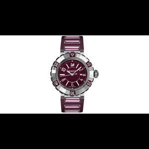 Swarovski Octea Purple Sport Crystal Watch